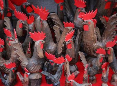 Wooden roosters